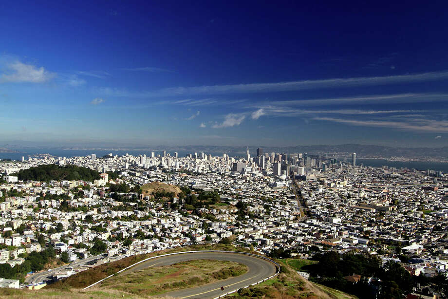 9. TWIN PEAKS. Situated in the geographic center of the city, Twin Peaks is the second-highest physical land formation in the city, which allows for sprawling panoramas ... when there's a break in the fog. Photo: Sasa Mutic, Flickr