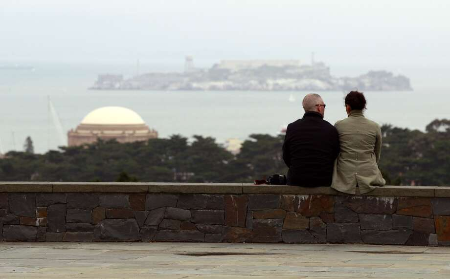 14. INSPIRATION POINT. The aptly named Inspiration Point in the Presidio has spectacular views of the San Francisco Bay, Alcatraz, Angel Island, and the Presidio forest that may be just the thing to get your creative juices flowing. Photo: Jeff Chiu, AP
