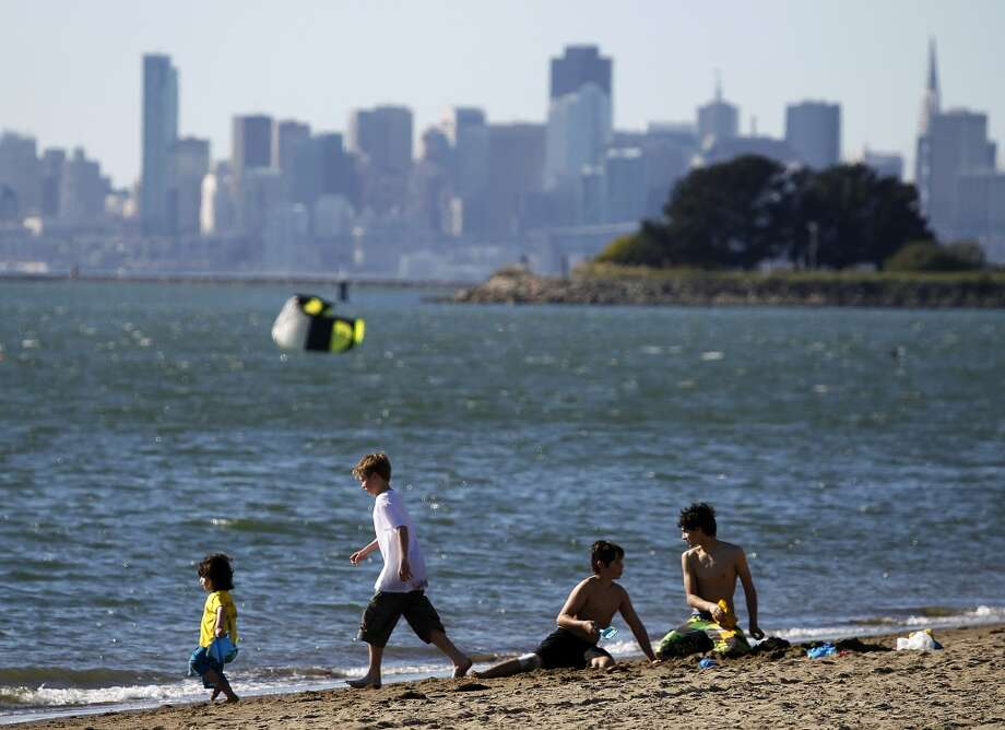 24. CROWN BEACH.  Crown Beach in Alameda is a great place to enjoy the sand while taking in the S.F. skyline from the East Bay. Photo: Paul Chinn, The Chronicle