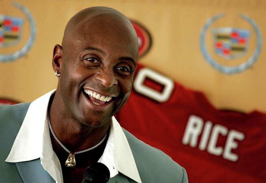 JERRY RICE, athlete: Hall of Fame credentials on the field make the beloved ex-49ers wide receiver seem like a front-runner. But don't forget that he didn't embrace his baldness until he was a Seattle Seahawk. Photo: Lance Iversen, The Chronicle / San Francisco Chronicle