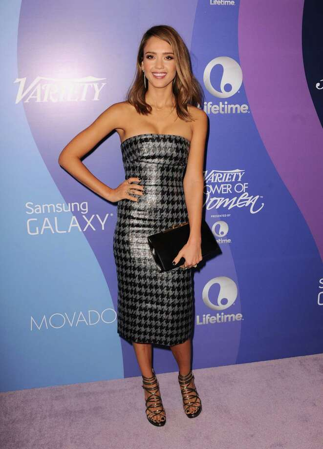 Actress Jessica Alba arrives at Variety's 5th Annual Power of Women event at the Beverly Wilshire Hotel on Friday, Oct. 4, 2013, in Beverly Hills, Calif. Photo: AP