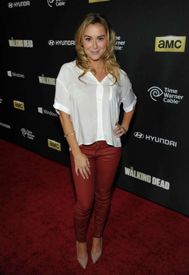 "IMAGE DISTRIBUTED FOR AMC - Alexa Vega attends AMC's season 4 premiere of ""The Walking Dead"" at the AMC Universal CityWalk Stadium on Thursday, Oct. 3, 2013, in Los Angeles. Photo: AP"