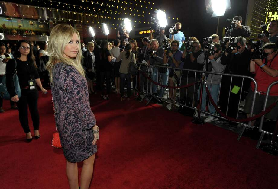 "IMAGE DISTRIBUTED FOR AMC - Ashley Tisdale attends AMC's season 4 premiere of ""The Walking Dead"" at the AMC Universal CityWalk Stadium on Thursday, Oct. 3, 2013, in Los Angeles. Photo: AP"