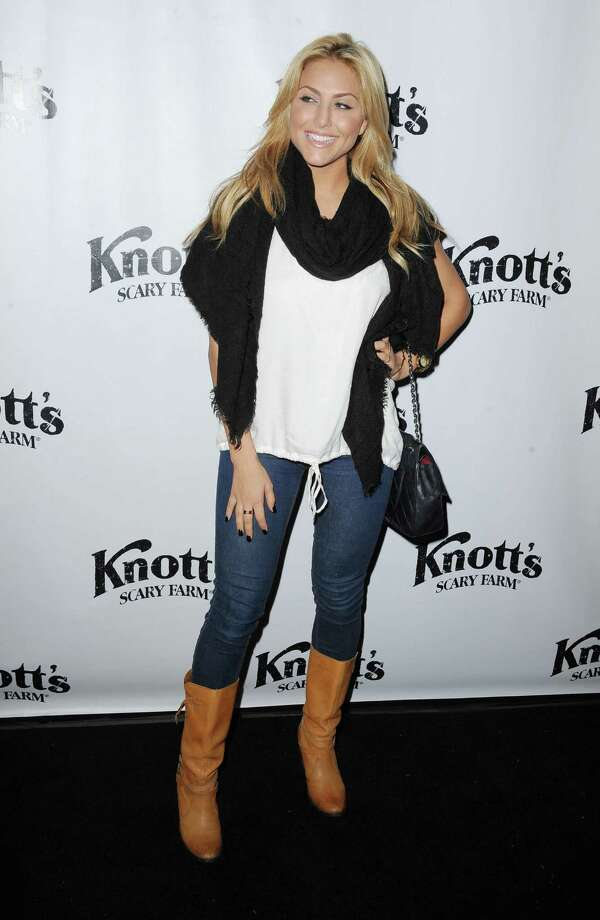Cassie Scerbo attends the VIP Opening of Knotts Scary Farm HAUNT on Thursday, Oct. 3, 2013 in Buena Park, Calif. Photo: AP