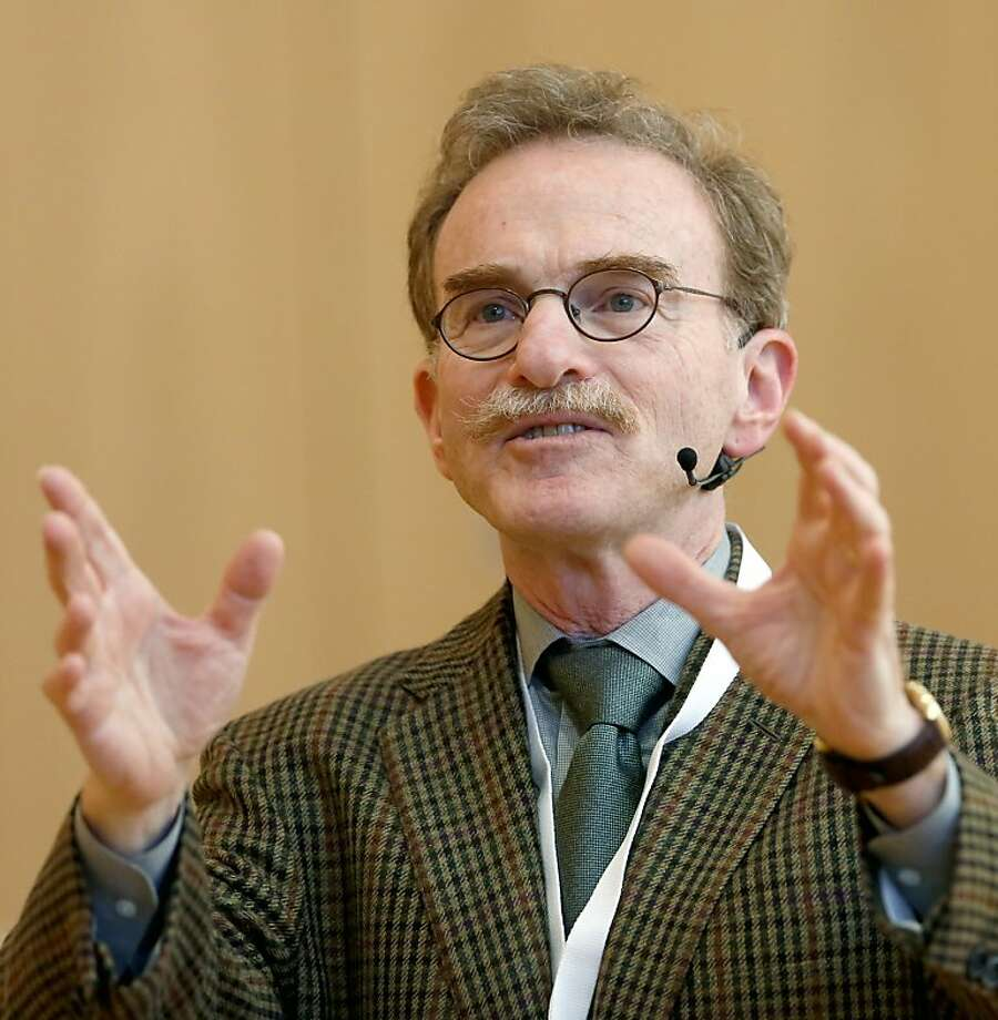 Scientist Randy Schekman addressing the awarding of the Otto Warburg Medal on October 3, 2013  in Frankfurt am Main, central Germany. James E Rothman from the US, Randy W Schekman from the US and Thomas C Suedhof from Germany, all joined winners of the Medicine Nobel Prize, the Nobel Assembly announced on October 7, 2013. Photo: AFP/Getty Images