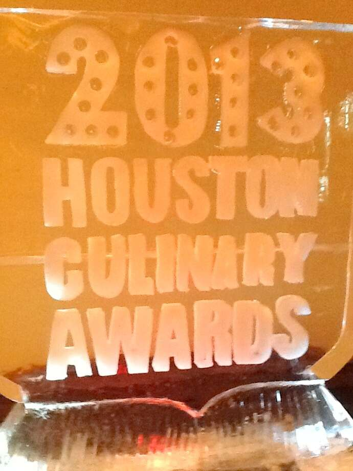 Ice sculpture at the 2013 Houston Culinary Awards at the Houstonian. (Photo: Greg Morago) Photo: Picasa