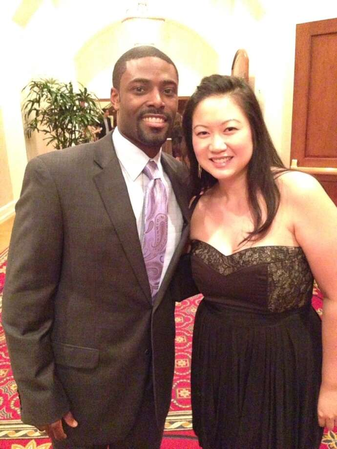 Greg Gatlin of Gatlin's BBQ and food writer/blogger Mai Pham at the 2013 Houston Culinary Awards. (Photo: Greg Morago