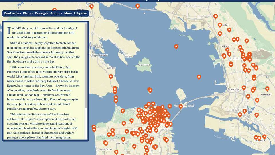 2015 in depth projects san francisco chronicle literary city a map of the book bound bay area gumiabroncs Gallery