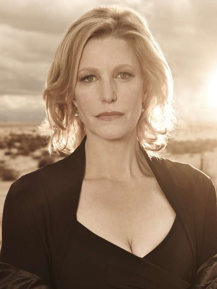 Anna Gunn plays Walter White's formidable wife, Skylar on Breaking Bad. She is currently filming a made-for-tv film called 'Rita,' about an outspoken private-school teacher. Photo: Frank Ockenfels 3/AMC