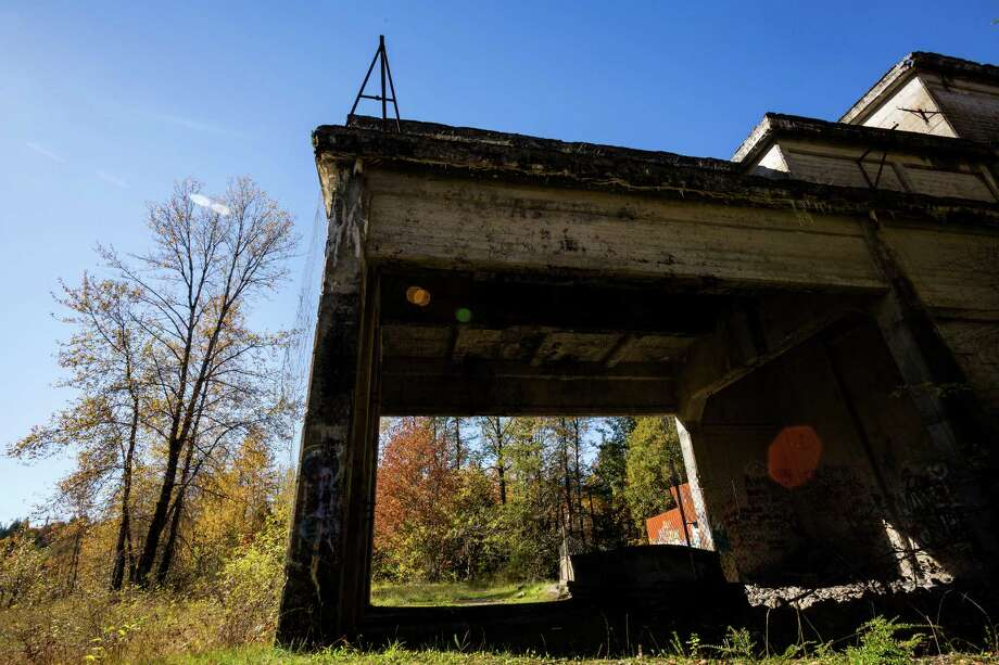 A side view of an abandoned crusher plant Sunday, Oct. 6, 2013, near Concrete. Photo: JORDAN STEAD / JORDAN STEAD