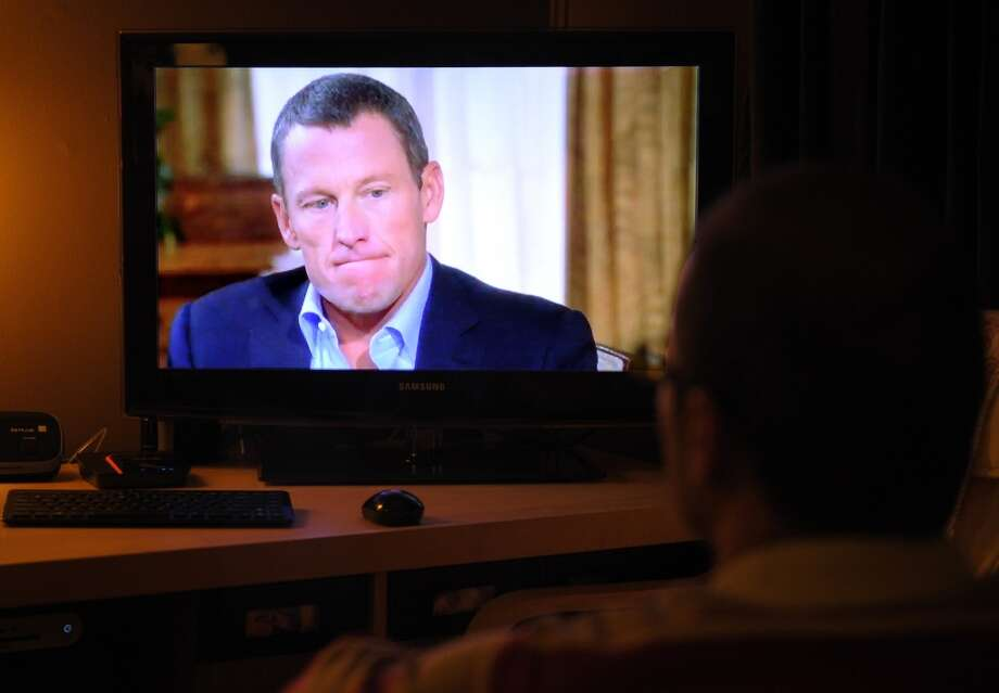 4th WORST role model for teenage boys:  Disgraced cycling star Lance Armstrong Photo: MANDEL NGAN, AFP/Getty Images