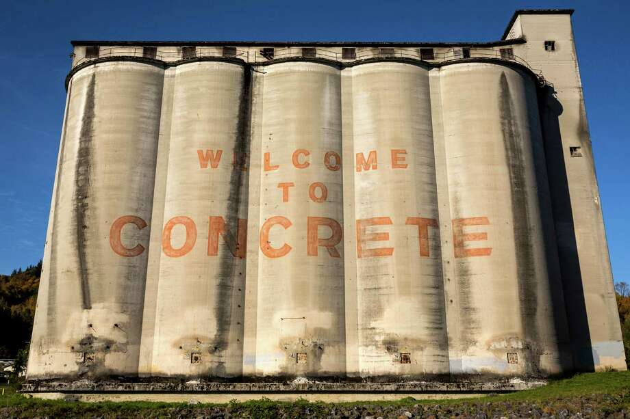 As seen from the North Cascades Highway, silos from ages past greet visitors Sunday, Oct. 6, 2013, in Concrete. Photo: JORDAN STEAD / JORDAN STEAD