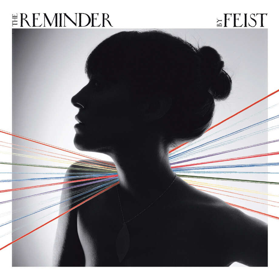 Feist, 'The Reminder': An intriguing photograph that begs the question, is she or isn't she wearing a shirt? (Hint: She is.) Photo: Interscope