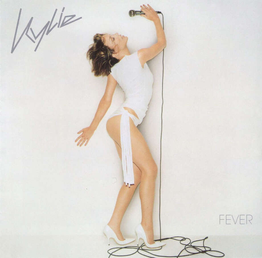 Kylie Minogue, 'Fever': We don't think she has a medical degree or anything but removing your trousers in case of a fever seems like a pretty solid iea. Photo: Capitol Records