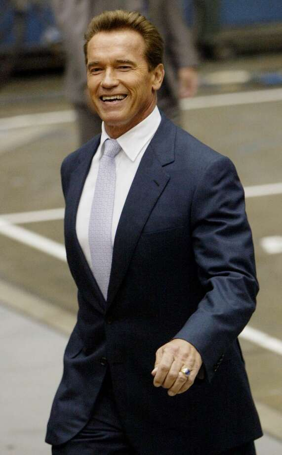 "Arnold Schwarzenegger – The ""Governator""  The Austrian bodybuilder turned Hollywood action star seemed an unlikely candidate considering he had never spent a day in a political office ... then he won. Photo: RIC FRANCIS, AP"