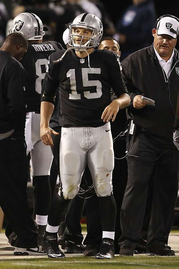 Matt Flynn was waived eight days after playing poorly in his only start for the Raiders. Photo: Michael Macor, San Francisco Chronicle