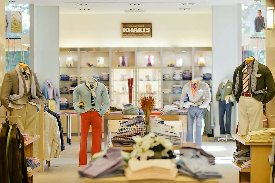 When you enter J. Lawrence Khaki's of Carmel, the customized environment - 100 mannequins - grabs your eye. Photo: Moss Media