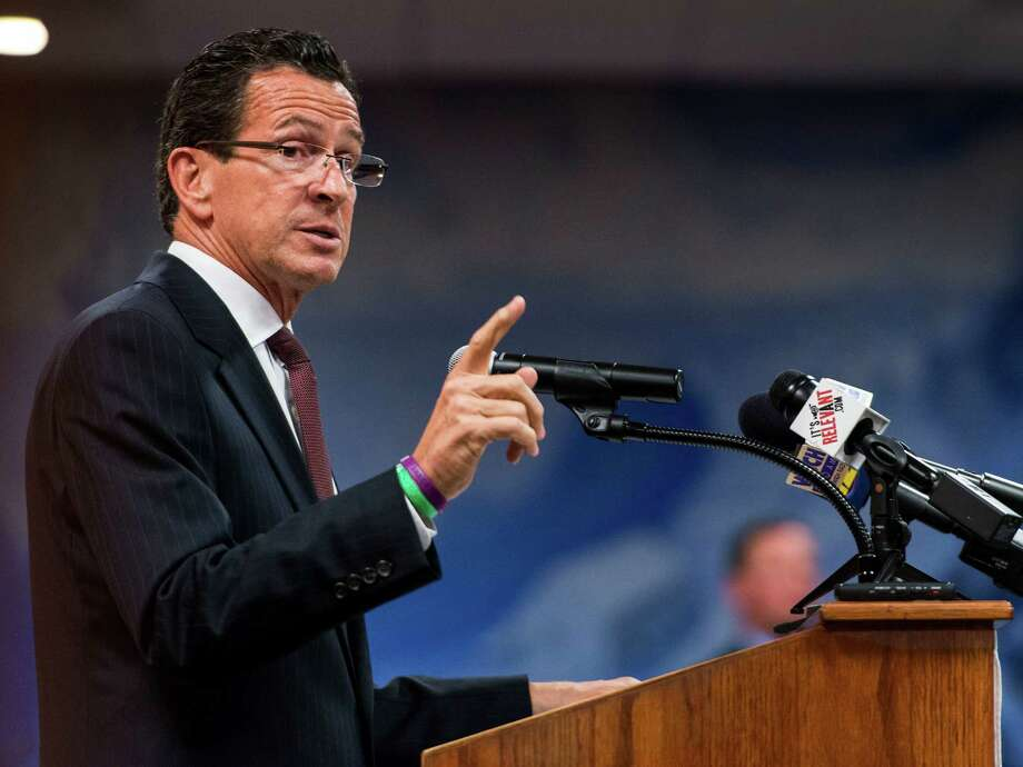 Governor Dannel Malloy speaks to an audience at the Town Hall meeting room, Greenwich Town Hall, Greenwich, CT on Monday, October, 7th, 2013. The event was hosted by the League of Women Voters of Greenwich. Photo: Mark Conrad / Stamford Advocate Freelance