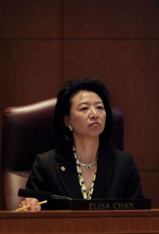 City Council member Elisa Chan listens to arguments during Session B in City Council Chambers for the Nondiscrimination Ordinance meeting at City Hall on Wednesday, August 28, 2013. Photo: San Antonio Express-News / ©2013 San Antonio Express-News