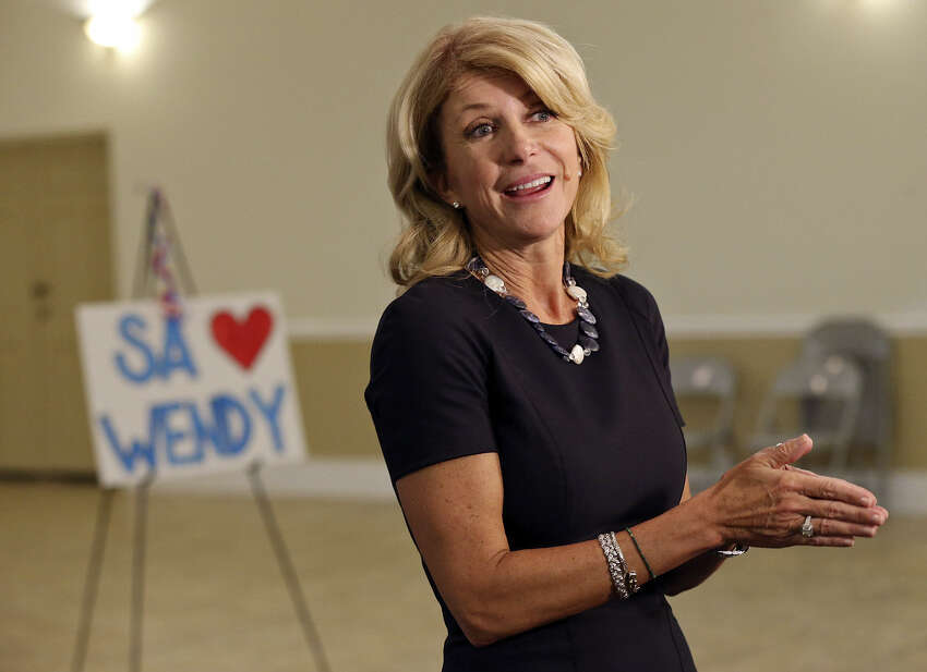 Senator Wendy Davis Hurray for Senator Davis! Boon for Mary, Molly, Mavis. Bane of men who would enslave us. Her legs are strong, her head level - her stamina incredible. The Red Sneaker is her symbol. For Perry, she is the Devil. A good friend of Leticia and of Planned Parenthood's Cecile, Wendy gave us cause to like her. For women's choice, to her honor, she endured a filibuster without restroom breaks or water. Not one good pee for thirteen hours. The long ordeal was Hell for her. She outlasted points of order. - Rachel Jennings