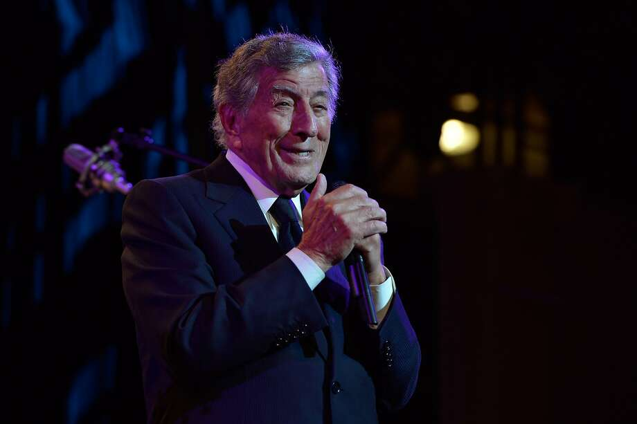 "NEW YORK, NY - OCTOBER 07:  Singer Tony Bennett performs onstage at ""Exploring the Arts Gala"" to support arts education in public high schools at Cipriani, Wall Street on October 7, 2013 in New York City.  (Photo by Larry Busacca/Getty Images for Exploring the Arts) Photo: Larry Busacca, (Credit Too Long, See Caption)"