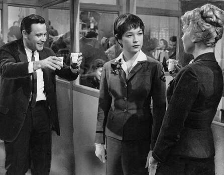 """The Apartment"" - A firm's young up-and-comer lets his bosses use his apartment as a love bungalow in order to score points with the bigwigs.Best PictureBest Director (Billy Wilder)Best ScreenplayBest Art DirectionBest EditingRelated: Full list of nominees for the 86th Academy Awards Photo: Ho, MGM"