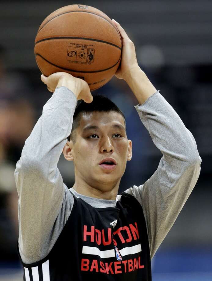 Jeremy Lin attempts a shot during practice on Tuesday. Photo: Bullit Marquez, Associated Press