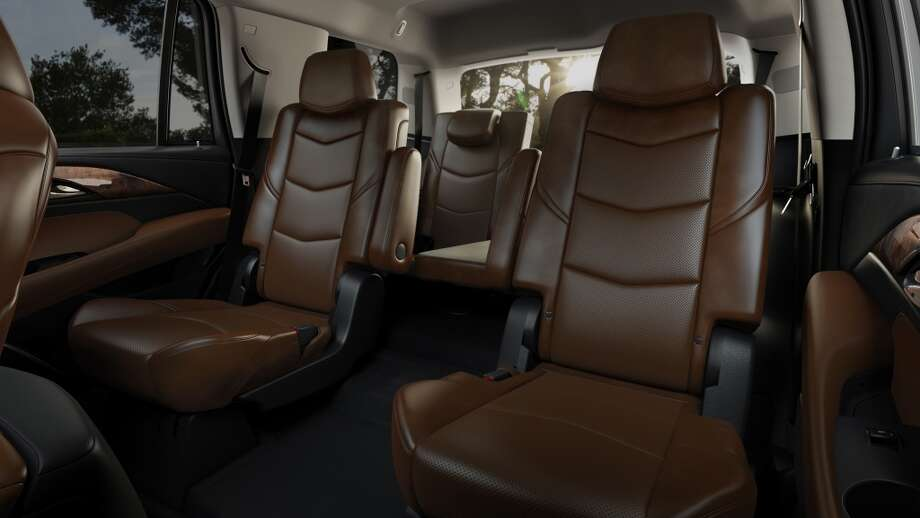 Escalade seats were designed to be more comfortable and sculpted in appearance with a reclining second row. The design incorporates dual-firmness foam that ensures long-trip comfort and helps retain appearance over time.