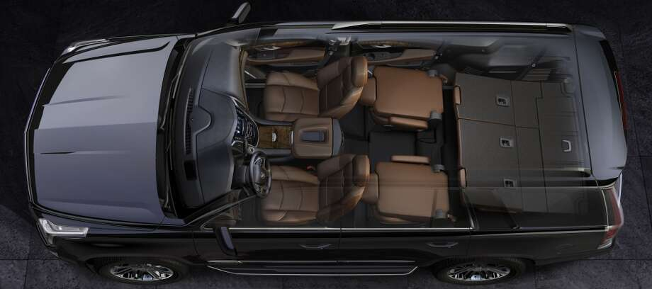 Escalade's second- and third-row seats fold flat for greater cargo versatility.