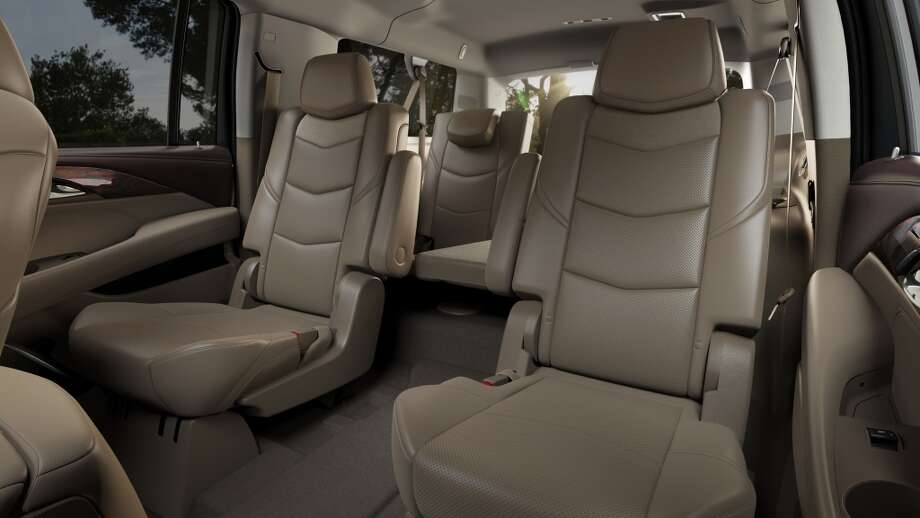 Escalade ESV seats were designed to be more comfortable and sculpted in appearance with a reclining second row. The design incorporates dual-firmness foam that ensures long-trip comfort and helps retain appearance over time.