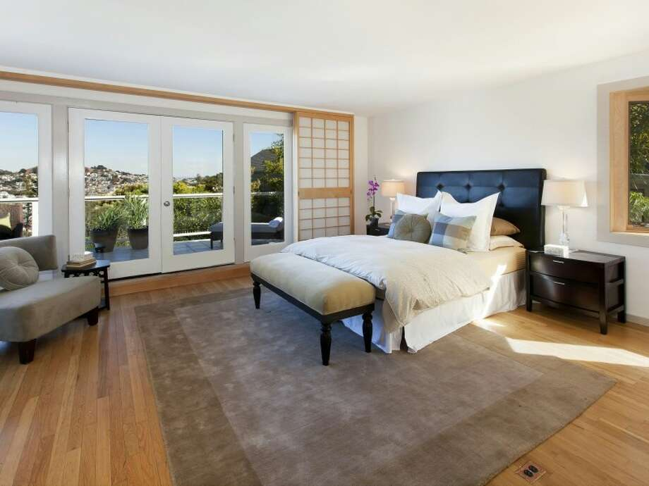 Master bedroom suite, spanning an entire floor of the home Photos   via Paul Ybarbo/Sotheby's
