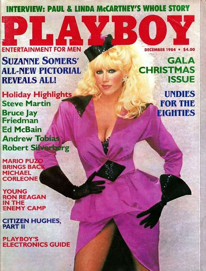 "Suzanne Somers' 1984 cover was her second appearance on Playboy. She apparently did a test shoot in 1970 which were published a decade later when she was starring in ""Three's Company""."