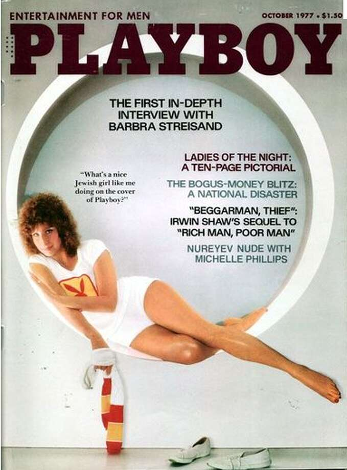 Barbra Streisand appeared on the cover of Playboy in 1977.