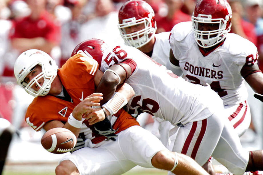 The Horns over-matched three straight years in Red River Rivalry. Photo: Mike Fuentes, AP2011 / AP2011