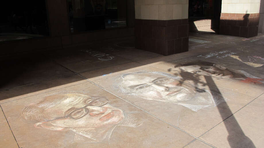 A drawing by featured artist Jeremiah Teutsch at Chalk It Up 2012.