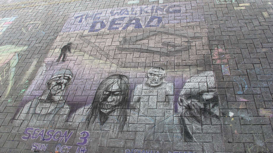 An unofficial drawing by Bryanna Derderiani at Chalk It Up 2012.