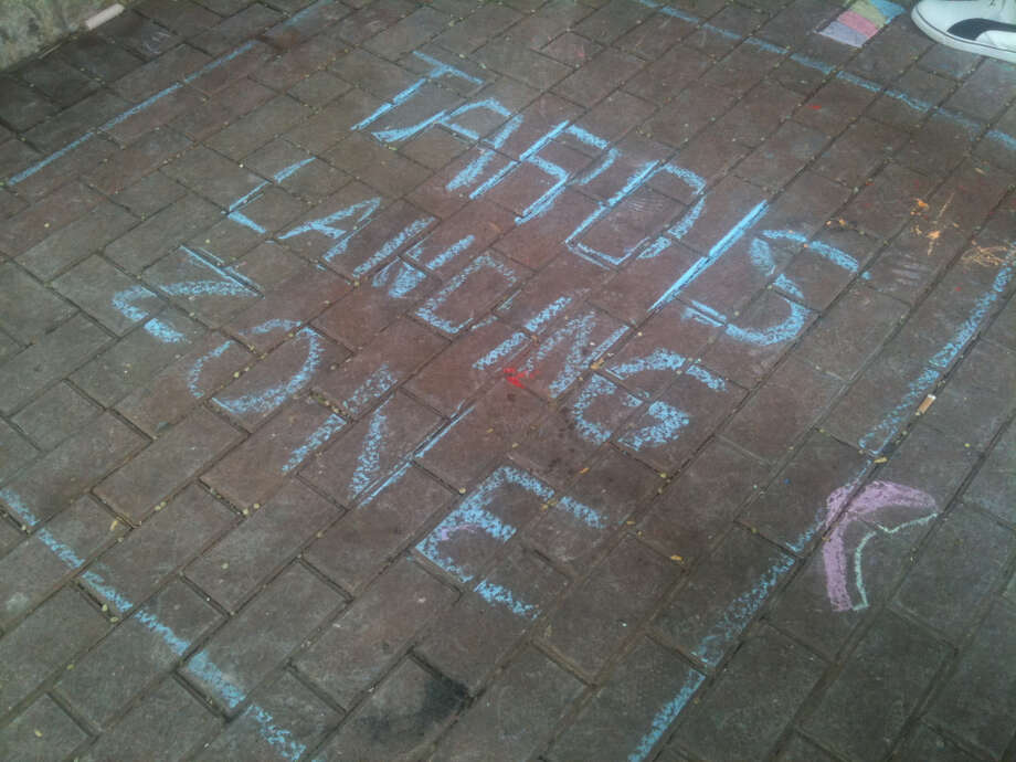 An anonymous drawing at Chalk It Up 2012.