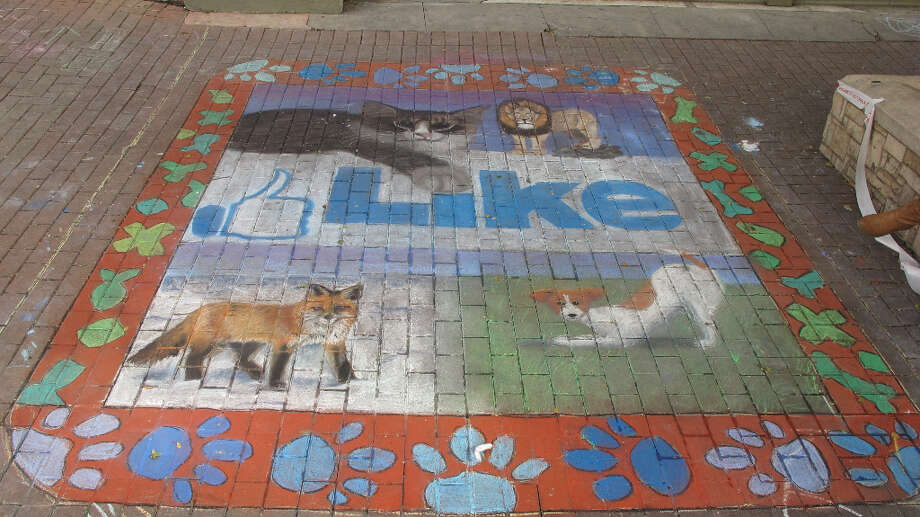 A drawing by students from Saint Mary's Hall Upper School at Chalk It Up 2012.