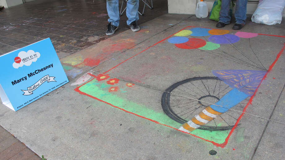 The work of Marcy McChseney, a featured artist at Chalk It Up 2012.