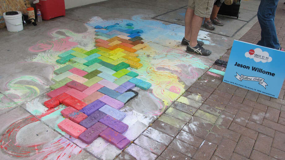 The work of Jason Willome, a featured artist at Chalk It Up 2012.