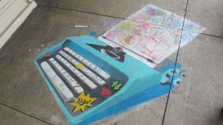 The work of Giovanna Carrola, a featured artist at Chalk It Up 2012