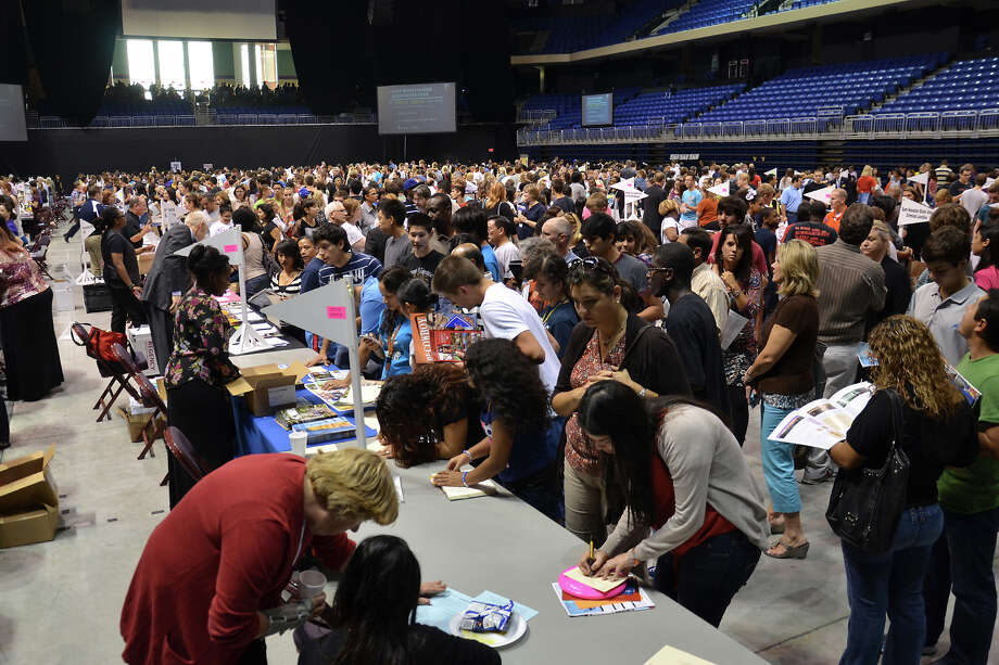 Last year's Cy-Fair ISD College and Career Night drew a crowd to the Berry Center in Houston. Photo: Photo Courtesy Of Cypress-Fairbanks Independent School District