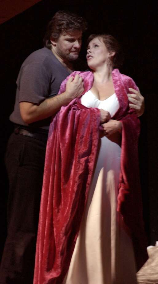 The diabolically fantastic Lady Macbeth of Mtensk. This one at San Francisco Opera featured  Christopher Ventris as Serfie and Solveig Kringelborn as Katarina Photo: KIM KOMENICH, SFC