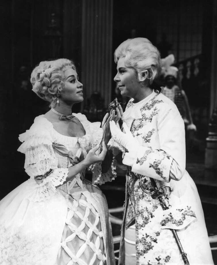Two of the greats-- Reri Grist and Christa Ludwig --  in a scene from Der Rosenkavalier sans the dirty dogs Photo: Louis Mélançon, Metropolitan Opera Archives