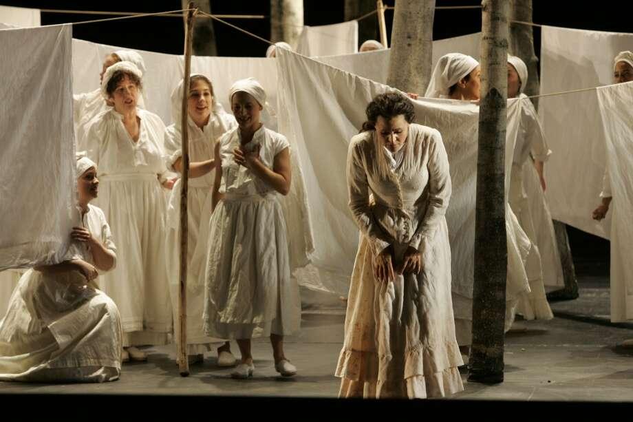 Another San Francisco Opera production of Eugene Onegin. This one on My 50th birthday.  Elena Prokina, as Tatyana, singing the Letter Photo: Katy Raddatz, SFC