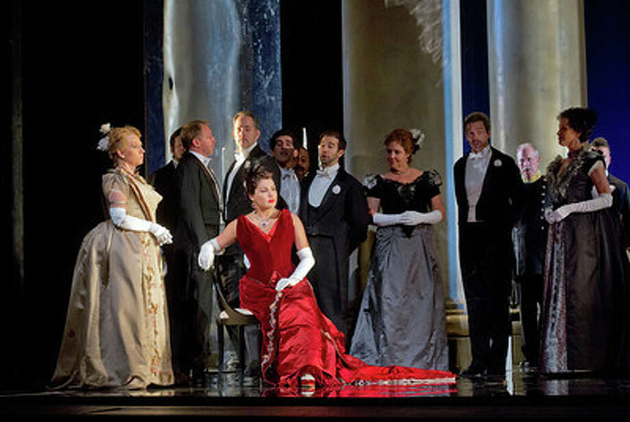 Anna Netrebko tin the latest Onegin. This one at the Met. Photo: Ken_Howard, @2013 / @2013