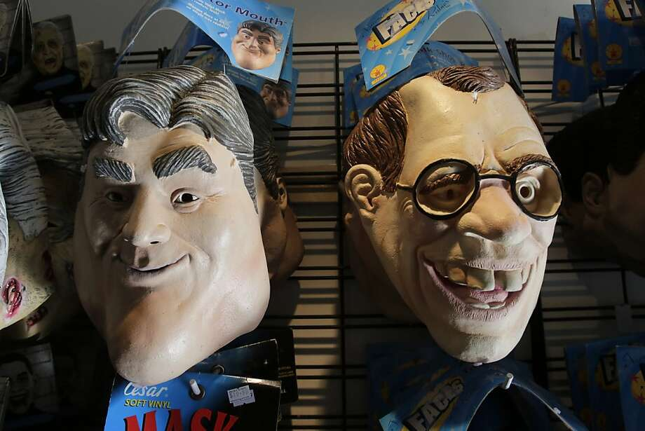 Go as your favorite past-his-prime talk show host for Halloween! Choose between the Leno and Letterman masks at this 