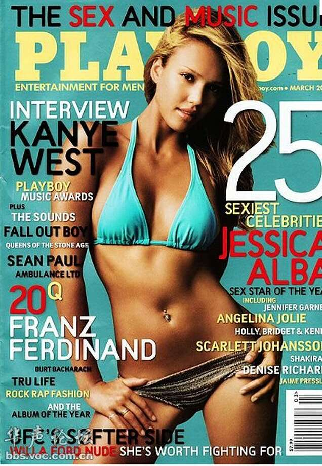 "In 2006, a promotional image of Jessica Alba's movie ""Into the Blue"" was used as Playboy's cover.  Alba was not thrilled and filed suit. It was later dropped when Hugh Hefner apologized and donated to charities of Alba's choosing."