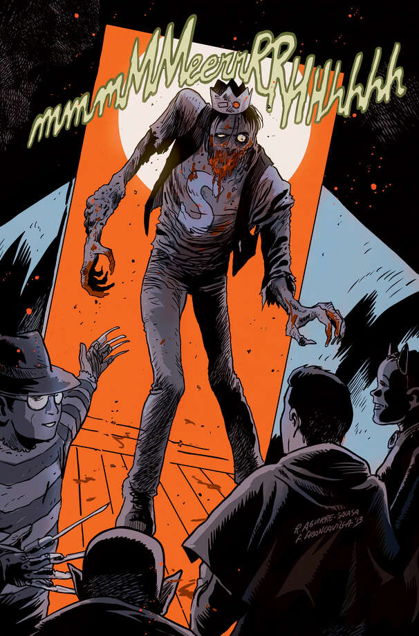 "This image released by Archie Comics shows the character Jughead from""Afterlife With Archie,"" a series debuting Wednesday, Oct. 9. The series written by Roberto Aguirre-Sacasa and illustrated by Francesco Francavilla sees Archie, Betty, Jughead, Veronica and others, including Sabrina the Teenage Witch, enveloped in apanoply of incantations, elder gods, the undead and zombies, too. (AP Photo/Archie Comics) ORG XMIT: NYET203 Photo: Uncredited / Archie Comics"