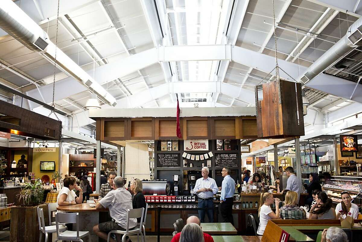 Ritual coffee roasters is among one of the many vendors available at the Oxbow Public Market in Napa, Calif., Friday, October 4, 2013.